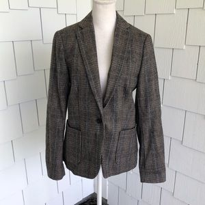 Maison Scotch 70s Blazer with Leather Patches Sz 3